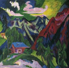 Ernst Ludwig  Kirchner, The Mountains of Klosters, um 1923