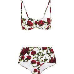 Dolce & Gabbana Floral-print bikini found on Polyvore
