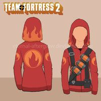 Such an amazing hoodie! And there's a tutorial for it! :D Team Fortress 2 Pyro Hottie's Hoodie Tutorial by Eternal-Afterglow