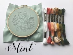 Embroidery Stitches, Hand Embroidery, Embroidery Designs, Kit, Hand Stitching, Applique, Coin Purse, Cross Stitch, Etsy
