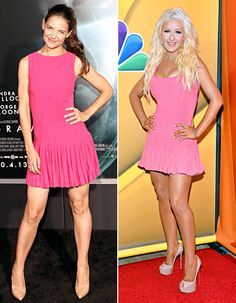 Christina Aguilera, Katie Holmes Wear Same Dress: Who Wore It Best? - Us Weekly
