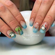 "#naildesign#nailart #funnailart Маникюр. Дизайн ногтей. МК (@ru_nails_master) on Instagram: ""Мастер @elena_gartseva г. Москва Нравится работа? Ставь #ru_nails_master #пингвин #птичка…"""