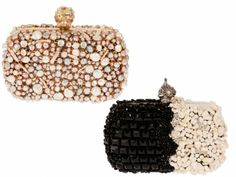 Cute stone and pearl embellished clutches