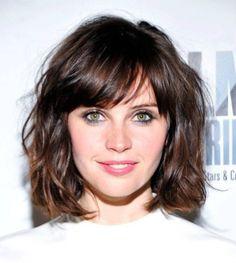 nice short hair side swept bang for cute girl