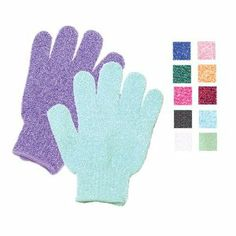 Bath Accessories Bathing Gloves Blue by Bath Accessories. $6.70. Textured Bathing Gloves. Try using both hands! Re-texurized and renew skin, just as the professionals do in expensive spa treatments, for touchable, softer skin.