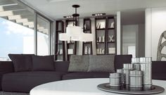 Black And White Mix In Luxurious Penthouse by Ando Studio - http://www.interiordesign2014.com/home-design-ideas/black-and-white-mix-in-luxurious-penthouse-by-ando-studio/