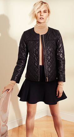 Loving the black + tan: Dean Quilted Leather Jacket | Club Monaco Collection | ClubMonaco.com