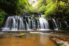 Purakaunui falls by Kenny Muir on New Zealand, Waterfall, Universe, Pretty, Outdoor, Sabbatical, Outdoors, Waterfalls, Cosmos