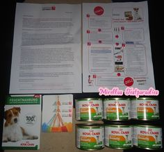 A testpackage for a dog, from Konsumgöttinnen. Dogfood from Royal Canin.