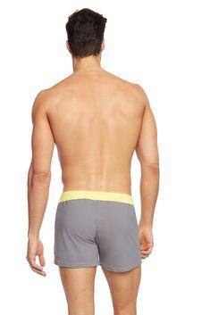 d3b334e9dbb03 Sauvage Yellow/Grey Moderno #menswimwear #swimshorts #swimwear  #yellowswimwear Mens Designer Swimwear