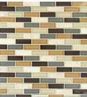 MS International Vintrav Luxor Valley Brick Pattern 1/2 in. x 2 in. Glass Mosaic Tiles - Super Fast Shipping