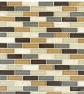 MS International Vintrav Luxor Valley Brick Pattern 1/2 in. x 2 in. Glass Mosaic Tiles - Super Fast Shipping