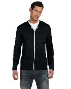 AA1970 Alternative Men's Eco Jersey Triblend Long-Sleeve Full Zip Fashion Hoodie