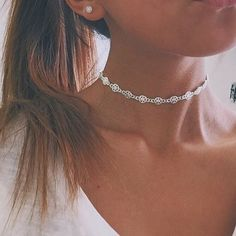 Vintage Silver Choker Necklace Jewelry Gift Punk Star Design Necklaces For Women Party Chocker Jewelry Gift Cute Jewelry, Silver Jewelry, Jewelry Accessories, Silver Ring, Jewlery, Silver Bracelets, Gold Jewellery, Silver Metal, Jewelry Shop