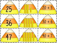 "Candy Corn Connection (free; from First Grade Wow's ""Place Value & Expanded Notation Pack"")"
