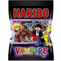 HARIBO - Vampire Liquorice - 200 g bag - German Product for sale online Haribo Halloween, Bonbon Halloween, Fete Halloween, Halloween Treats, Comte Dracula, Juicy Fruit Gum, Mario Party Games, Super Mario Cake, American Girl Doll Room