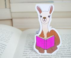 Hey, I found this really awesome Etsy listing at https://www.etsy.com/listing/245946901/llama-bookmark-bookmarks-planner
