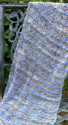 Beautiful Scribble Wrap knitting pattern!