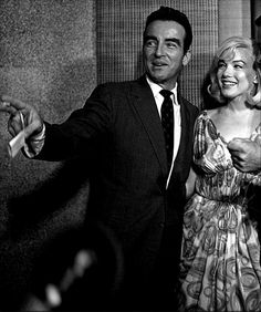 Marilyn Monroe and Montgomery Clift at a press conference for The Misfits, July 1960.
