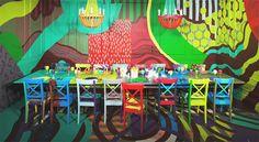 Eine Tischgestaltung als bunter & wilder Prozess - von David Stark ...