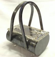 Vintage 1950's Signed Rialto Original New York lucite purse Handbag Clear Top