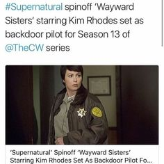 Supernatural is getting a spinoff! Wayward Sisters!!! THEY BETTER NOT BE LIYING!
