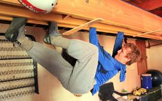 Want to get crack strong? Building your own crack training system is the way to go. Unlike a home bouldering wall, crack systems take up little space, are easy to build, and cost a fraction of the price. Photo: Anthony Johnson.