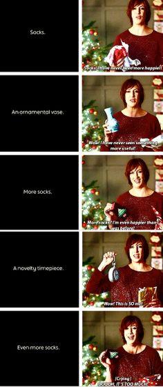 I love Miranda Hart. Although I legitimately like socks as a present.