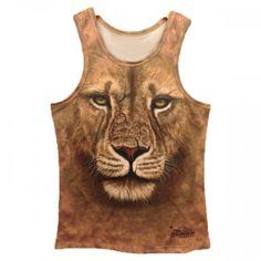 T-shirt Debardeur effet 3d Lion Style Swag Men Fashion