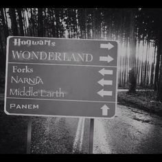 I wish this was real, like this sign was somewhere and it really showed were the real places are.
