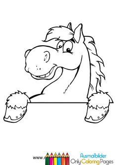 ausmalbilder pferdekopf malvorlagen