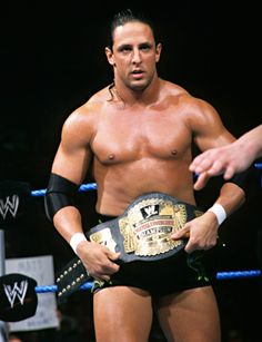 Billy Kidman with the WWE Cruiserweight Championship. Would like to see the WWE re-introduce this particular Championship.