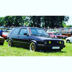 """Gefällt 84 Mal, 4 Kommentare - Toby (@revaddicts) auf Instagram: """"German classic: #stanced VW #golf2gti with #bbswheels Share your thoughts! like, comment or…"""""""