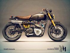 MotoGp: Cafè Racer Concepts - Triumph Bonneville by Holographic Hammer