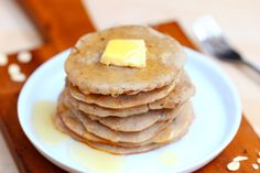 Just 3 ingredients to make deliciously light and fluffy flourless pancakes... they can be vegan, gluten-free, and sugar-free.