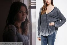 the fosters outfits callie | The Fosters: Season 1 Episode 12 Callie's Grey Burnout Sweater