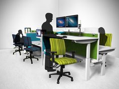 Sit To Stand, Cubicle, Ikon, Office Furniture, Corner Desk, Comfy, Chair, Interior, Discovery