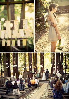 Summer camp wedding style.