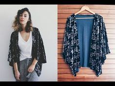 YouTube Fendi, Couture Sewing, Victoria, Crochet Poncho, Refashion, Kaftan, Diy Clothes, Diy Fashion, Kimono Top