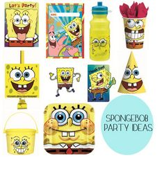 spongebob birthday party supplies