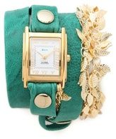 Multi Leaf Charm Wrap Watch