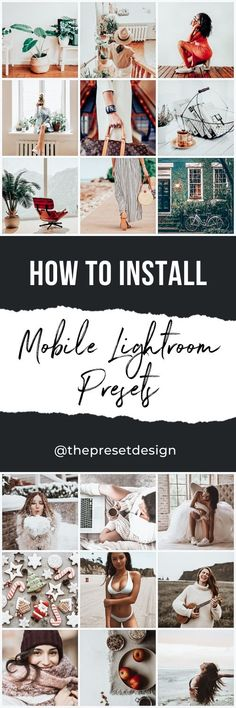 Learn How to Install Lightroom Mobile Presets with these simple instructions and Video Guide! Instagram Photo Editing, Lightroom Presets, Photo Wall, Simple, Design, Photograph, Design Comics
