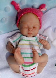 Ooak Hand Sculpted Newborn Baby Girl Clay ART Doll Shaylee 4 5 034 Dawn Mcleod | eBay