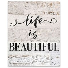 Life is Beautiful Canvas Art Print (39 CHF) ❤ liked on Polyvore featuring home, home decor, wall art, typography wall art, word wall art, handmade wall art, quote canvas wall art and word canvas wall art