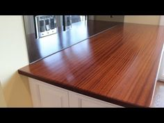 How to make a wooden countertop by Jon Peters . this guy makes it look simple, but of course for me it wouldn't be, but I love the step x step info he provides, maybe one day i'll be brave and try something like this! Cheap Countertops, Butcher Block Countertops, Laminate Countertops, Wood Laminate, Concrete Countertops, Kitchen Countertops, Butcher Blocks, Laundry Room Countertop, Building A Kitchen