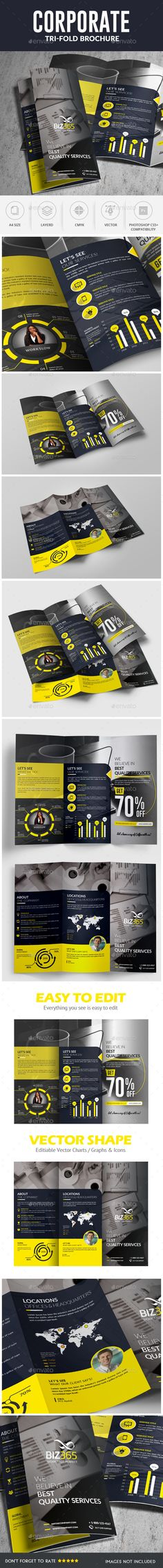 Corporate Trifold Brochure Template PSD #design Download: http://graphicriver.net/item/corporate-trifold-brochure/14152820?ref=ksioks