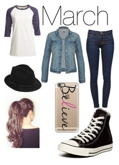 """""""March Outfit"""" by unicorn-narwhal ❤ liked on Polyvore featuring Camp Collection, Frame Denim, Converse, Casetify, RED Valentino, women's clothing, women, female, woman and misses"""