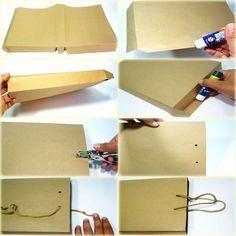 passo1 sacolinha papel kraft