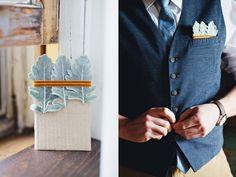 great idea for a pocket square, photo by Flora and Fauna http://ruffledblog.com/basilica-hudson-wedding #grooms #pocketsquare #groomsmen