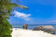 Tropical beach Seychelles islands
